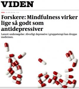 Forskere - Mindfulness virker lige så godt som depressiver